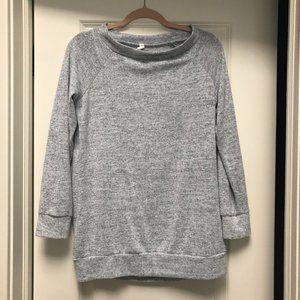 Pinkblush Heather Grey Boatneck Sweater